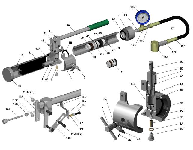 hydraulic hand: